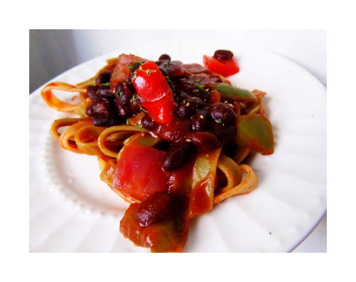Project Eat Less Meat: Black beanpasta?